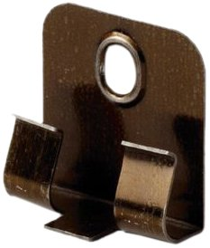 EGGER Clipstar Befestigungsclips aus Metall - Sockelleiste auf Clipse aufstecken und montieren - Inhalt 50 Stück inkl. Befestigungsmaterial
