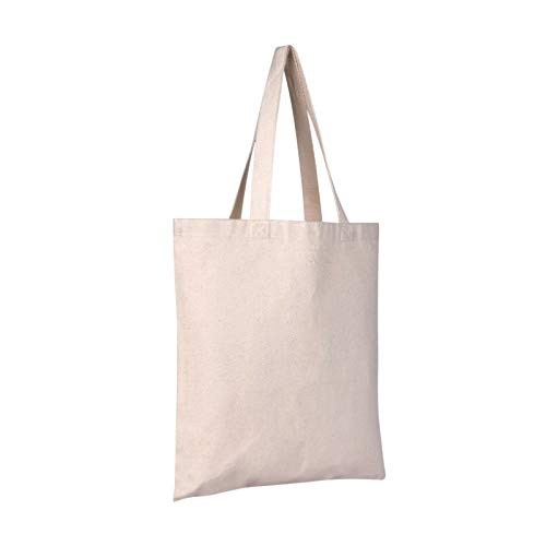M-Aimee Canvas Craft Tote Bags - 10 Pack 13'x10' Fabric Blank Tote Bags, Natural Cotton for DIY Crafts, Gift Bag and Wedding, Birthday, Shopping, or Reusable Grocery Bag