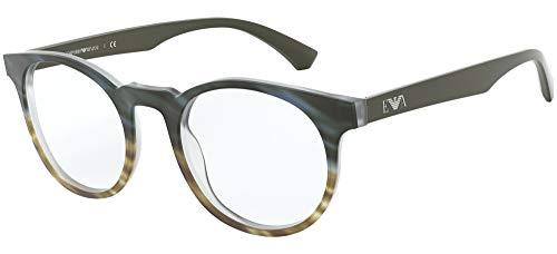 Emporio Armani Gafas anteojos EA3156 5791 gris tamaño de fotograma de 48 mm hombre