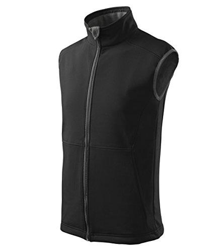 MIHEROS Outdoor Westen - Softshell Weste für Herren ohne Ärmel – Auch beliebt als Laufweste und Fahrradweste - Farbe: Schwarz - Größe: XL