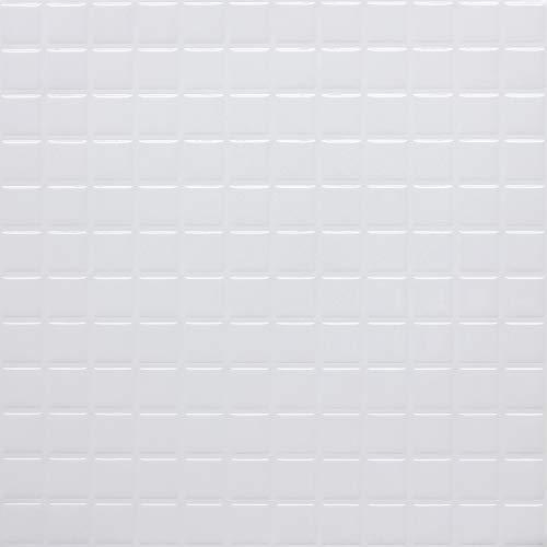 profesticker Vinilo Azulejo Adhesivo Cenefa Adhesiva 3D Auto-Adhesivo Pegatina Pared Baldosa Revestimiento Border Decorativo Impermeable Cocina Baño (Mosaico Blanco, 9)