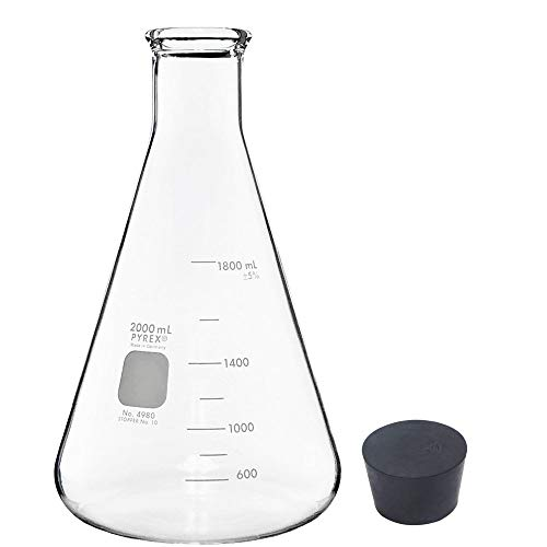 2000ml Erlenmeyer Flask with Rubber Stopper (Single)