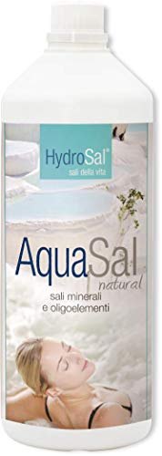 HYDROSAL Aqua Termal 3 litros con magnesio, potasio y yodo para piscina e hidromasaje (jacuzzi, atenuación, índex, Bestway, etc.), Aqua Sal Natural – pedición inmediata