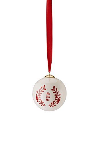 Hutschenreuther Merry Christmas Nordic Red Grande Boule en Porcelaine Ho/Ø 8 cm, Porcelaine, Rouge, 9 x 9 x 10 cm