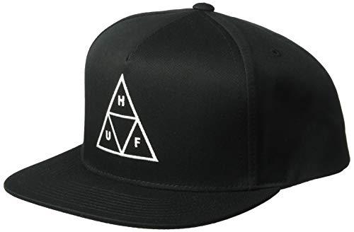 HUF Herren Essentials TT Snapback HAT Mütze, schwarz, Einheitsgröße
