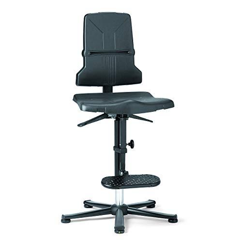bimos Arbeitsdrehstuhl – SINTEC - Kunststoff, ESD-Ausführung - mit Gleitern und Aufstieghilfe - Arbeitsdrehstuhl Arbeitsdrehstühle Arbeitsstuhl Arbeitsstühle Drehstuhl Drehstühle ESD-Arbeitsstuhl ESD-Arbeitsstühle Universalstuhl Universalstühle