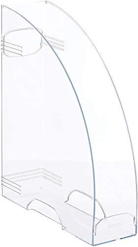 Rotho Timeless Stehsammler mit Griffloch, Kunststoff (PS) BPA-frei, transparent, A4 (29,8 x 24,2 x 8,2 cm)