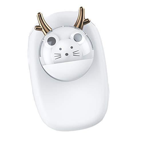 TTXS Colgante ventilador de cuello creativo de dibujos animados estudiante dormitorio mini portátil lindo mascota ventilador eléctrico duradero vida silencioso y bajo ruido C