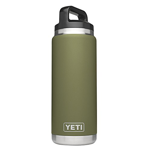 YETI Rambler 26 oz Bottle, Vacuum Insulated, Stainless Steel with TripleHaul Cap, Olive Green