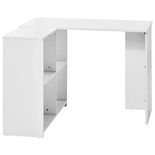L-Computer escritorio escritorio escritorio de escritorio pequeña mesa de oficina con gran espacio de almacenamiento estudio escritorio escritorio portátil mesa para oficina en casa 100 x 91 x 73 cm