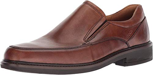 ECCO Men's Holton Apron Toe Slip On Loafer, Amber, 9-9.5 US