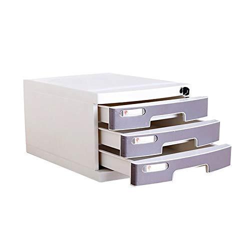 QSJY La presentación de los cajones de Escritorio, cajonera de Escritorio con Cerradura, cajón Conjunto de Empresa/Escuela/Oficina/Centro Comercial/Hospital (Color : Gray, Size : 3603)
