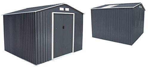 Abri de jardin en métal 5.29 m² + kit d'ancrage offert
