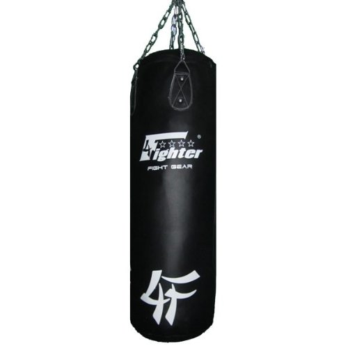 4Fighter Sacco per il pugilato / Sacchetto di sabbia - finta pelle, nero, vacanti, 100 x 35cm