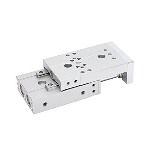 MING-BIN Aire del Cilindro de aleación Cilindro neumático SMC Tipo de Cilindro de Mesa Deslizante HLS / MXS6 / 8/12-10X20-30-40-50-75-100C / AS/BS Partes de maquinaria (Size : HLS/MXS12-50)