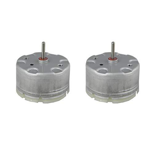 CHANCS 2PCS de 500 DC Motor 3V3000RPM 6V 6000RPM 12V 12000RPM Alta Velocidad Motor de Engranajes