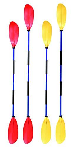 Remos de kayak Navyline asimétrico, 2piezas, amarillo, 210 cm
