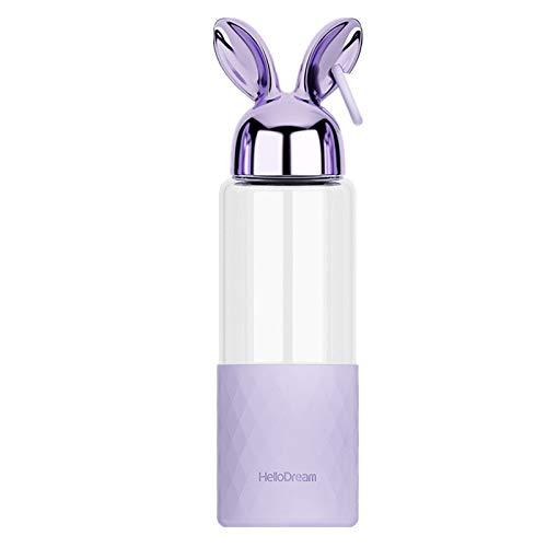 Glas Silikonhülle Verbrühschutz Wärmedämmung Hoch Borosilikatglas Kaninchen Studentin Geschenk Tasse
