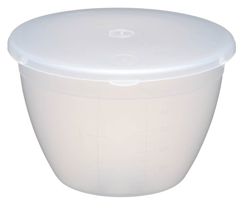 Kitchen Craft Medium-Small Plastic Pudding Basin with Lid, 570 ml (1 Pint)