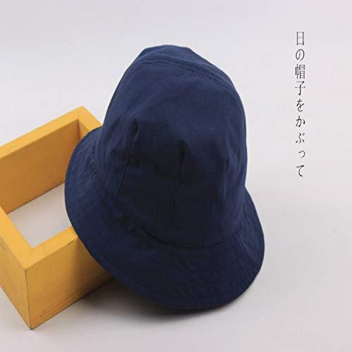 sdssup Sonnenschirm Sonnencreme Fischerhut Hut für Männer und Frauen dzp Navy Blue M (56-58cm)