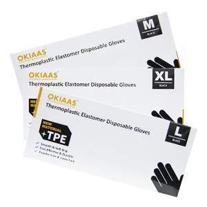 OKIAAS TPE Gloves All Size Combo Set (M+L+XL), Black