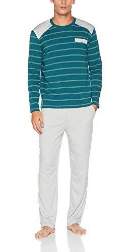 Damart Pyjama Thermolactyl Ensemble, Vert (Gris/Vert 09113), X-Large (Taille Fabricant: XL) Homme