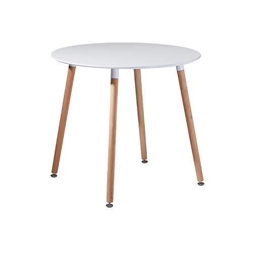 EGGREE Tavolo da Cucina Rotondo Moderno di Design Tavolo da Pranzo in Legno Scandinavo,Gambe in...