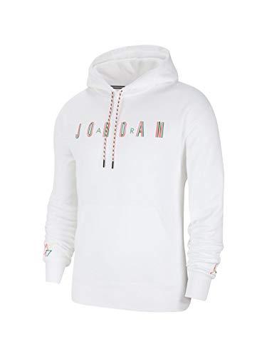 Jordan Felpa off CRT Bball Cappuccio Bianco, XL