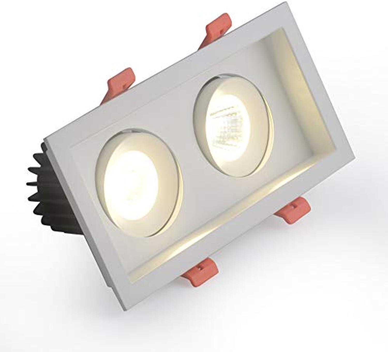 Mogicry Double Head Embedded Strahler LED Panel Licht Wei 5 7 10W Einbau Embedded Deckenleuchte Aluminium 360 ° Einstellbare Decken Panel Light Drehbare Spot Lampe für Wohnzimmer