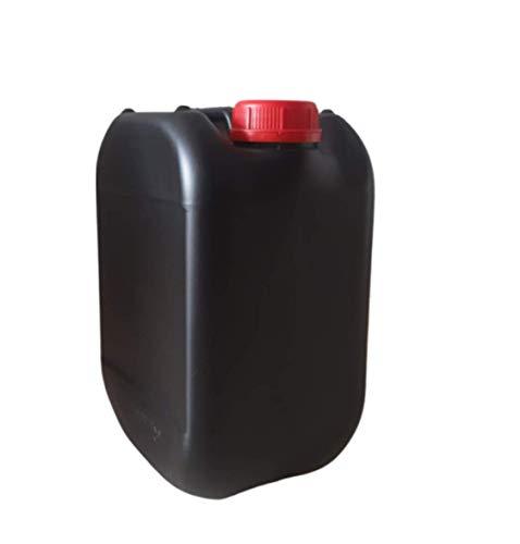 Garrafa bidón plástico 10 litros Negra homologado ADR boca ancha ideal para agua gasolina químicos depósito aire acondicionado camping furgoneta camper