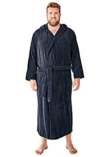 Image of KingSize Big & Tall Men's Bath Robe with Hood - More Colors Available