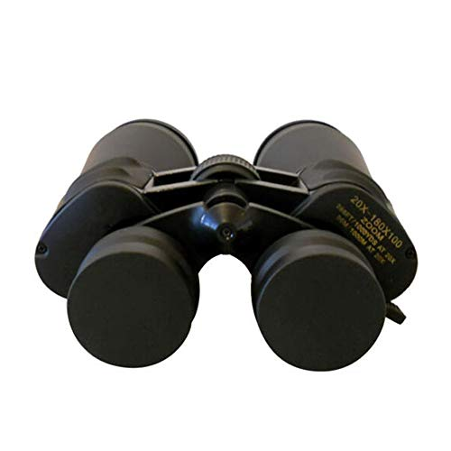 Lixada Prismáticos Telescopio Profesional de Alto Aumento de 20-180 * 100X, Campo de Visión a 56M / 1000M a 20x, Ocular 40 mm, Diámetro Objetivo Real 80 mm, Impreso Marcado como 100 mm