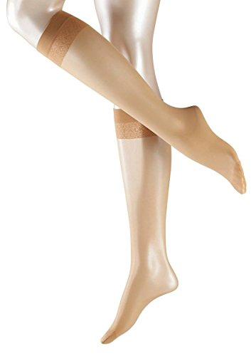 FALKE Damen Matt Deluxe 20 DEN W KH Socken, Transparent, Beige (Golden 4699), 39-42