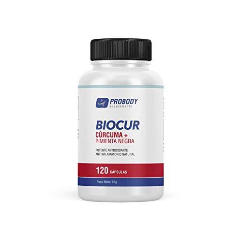 Cúrcuma Pura + Bioperine | Potente Antiinflamatorio y Antioxidante | Elimina el dolor de las articulaciones, huesos y músculos | Retrasa el envejecimiento celular | 120 Cápsulas.