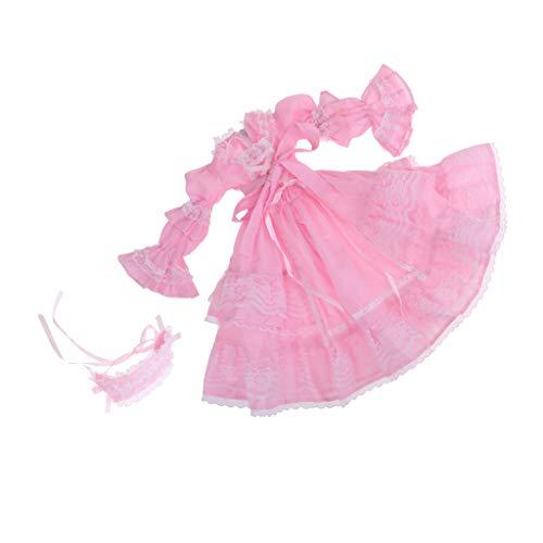 CUTICATE 1/3 BJD Super Dollfie Outfits Lolita Kleid Prinzessin Kleid Für Nacht Lolita - # E - Rosa