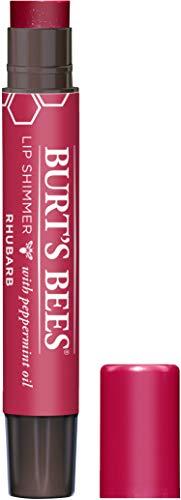Burt's Bees 100% Natural Moisturizing Lip Shimmer, Rhubarb - 1 Tube (packaging may vary)