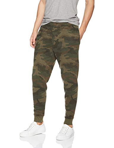 Amazon Essentials Men's Fleece Jogger Pant, Green Camo, Medium