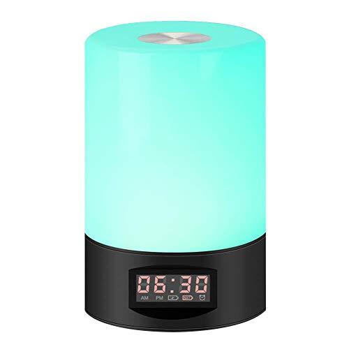 JTYX wakker licht 7 kleuren LED bedlampje nachtlampje Smart Touch Elektronische wekker