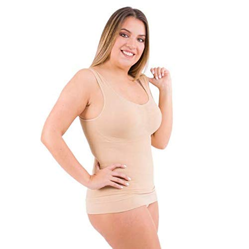 Cami Body Shaper for Women - Waist Trimmer Shapewear with Tummy Control (XL, Beige)