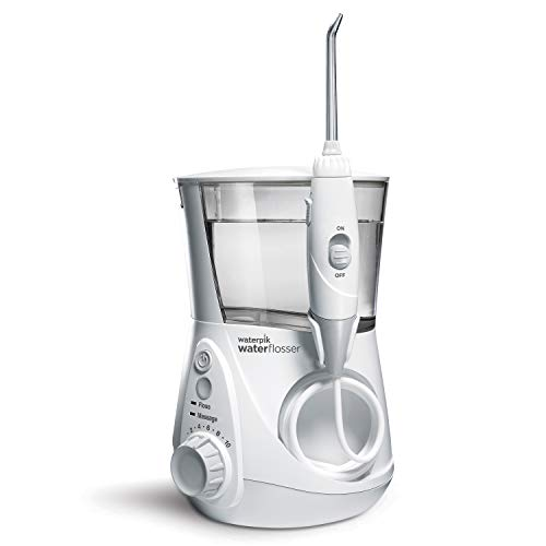 Waterpik WP-660UK Ultra Professional Water Flosser, White Edition (UK 2-Pin Bathroom Plug)