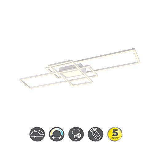 Trio Leuchten LED Deckenleuchte IRVINE mit Fernbedienung 60W 6500 lm 3000-6500 Kelvin Weiß matt 620010431