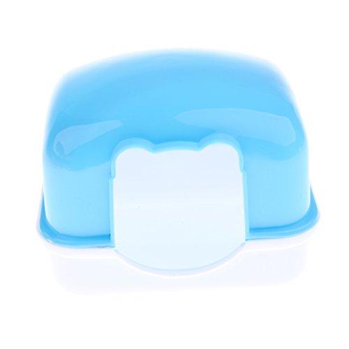 LOVIVER Le Jeu en Plastique Durable De Cachette De Cabane De Repaire De Maison De Hamster en Plastique Joue à Mâcher pour Le Hamster Nain, La Souris, Le Rat, Bleu