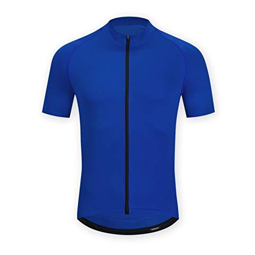 ELNOCSON Maillot Ciclismo para Hombre Camiseta Ciclismo Manga CortaTranspirable Elástico Ropa Bicicleta MTB Verano