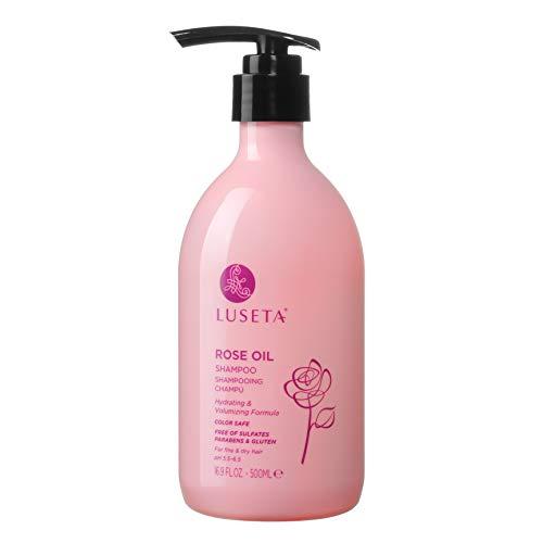Das Luseta Set Rosenöl Shampoo bietet Feuchtigkeit und Volumen für trockenes und feines Haar 500 ml