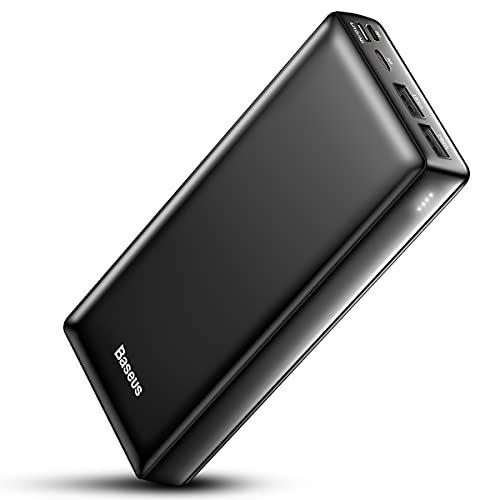 Baseus Power Bank Externer Akku 30000mAh, USB C Schnelles Aufladen Tragbares Ladegerät für iPhone, iPad, Kompatibel mit Samsung, Huawei und mehr