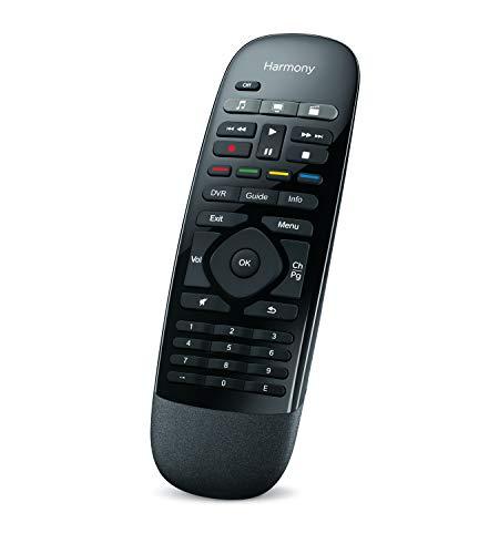 Logitech Harmony Smart Control IR inalámbrico Botones Negro - Mando a distancia (Cable, DVD/Blu-ray, Consola de juegos, Smartphone, TV, Receptor de televisión, IR inalámbrico, Botones, Negro)