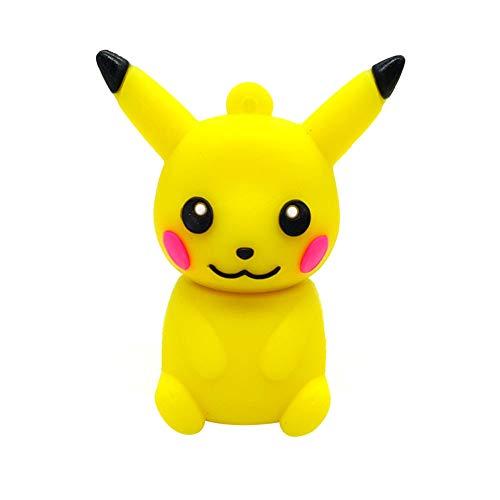 Clé USB Pen Drive Flash Drive Memory Stick Dessin animé Pokemon Pikachu USB2.0 4Go / 8Go / 16Go / 32Go / 64Go / 128Go Nouveauté Mignonne Créatif Portable Stockage de données (32GB, Jaune-1)