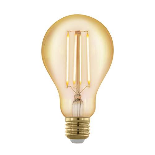 EGLO - Bombilla LED E27, regulable, estilo vintage, 4 W (equivalente a 30 W), 320 lúmenes, E27, luz blanca cálida, 1700 K,...