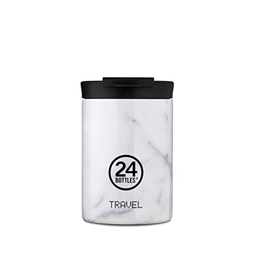 24Bottles Travel Tumbler - Borraccia termica in acciaio INOX, 350 ml, per caffè freddo 24 ore e caldo 6 ore, caraffa termica (Carrara)