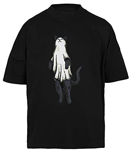 Ser Tipo Camiseta Holgada Hombre Mujer Unisex Negra T-Shirt Baggy Men's Women's Black